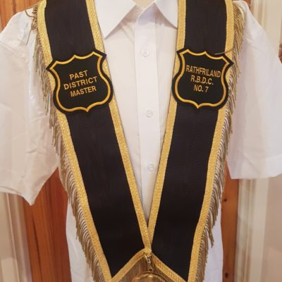 Royal black preceptory apron dress
