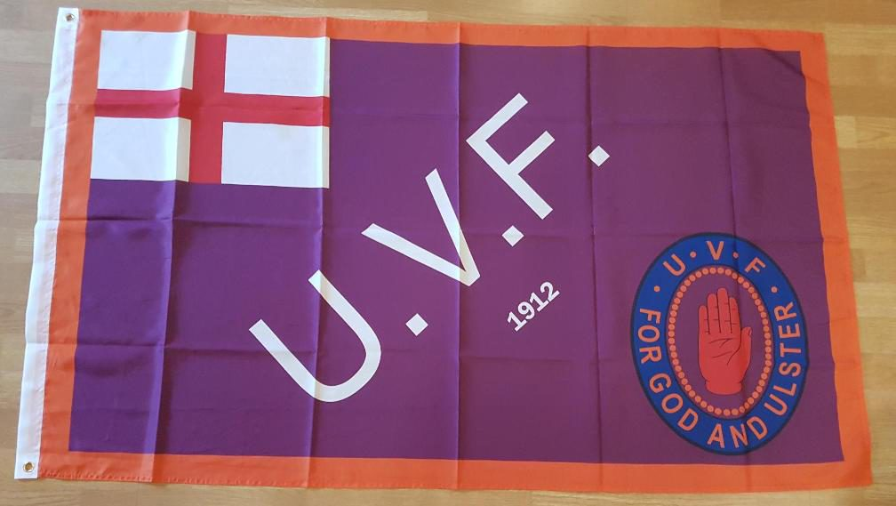 *NEW ULSTER VOLUNTEER FORCE MOTOR CAR CORPS FLAG UVF WW1